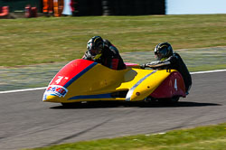 John Longmore & Susan Longmore, Open Sidecar, Derby Phoenix, Cadwell Park, 2011