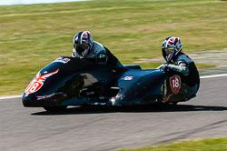 David Blackwood & Jayne Blackwood, Open Sidecar, Derby Phoenix, Cadwell Park, 2011