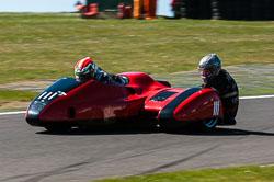 Michael Kirkup & Stewart Lithgow, Open Sidecar, Derby Phoenix, Cadwell Park, 2011