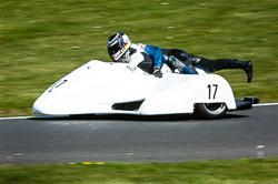 Donna Walton & Charlie Richardson, Open Sidecar, Derby Phoenix, Cadwell Park, 2011