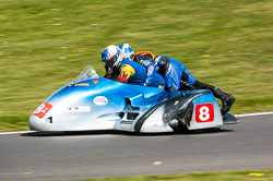 Simon Biggs & Lee Saunders, Open Sidecar, Derby Phoenix, Cadwell Park, 2011