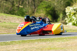 Kyle Young & Clive Russell, Open Sidecar, Derby Phoenix, Cadwell Park, 2011