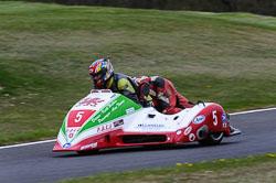 Andy Williams and Alun Thomas, Sidecar, NG, Cadwell Park, 2013