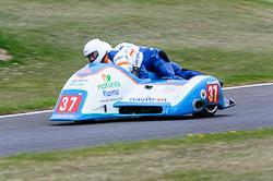 Andy King & Kenny Cole, Sidecar, NG, Cadwell Park, 2013