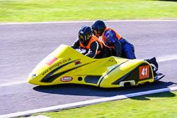 Alistair Hawkins & Lindsey Croft, Open Sidecar, Derby Phoenix, Cadwell Park, May 2013
