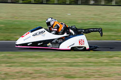 Scott Parnell & Mark Wilkes, Open Sidecar, Derby Phoenix, Cadwell Park, May 2013