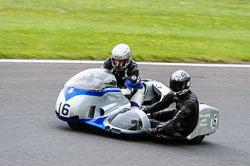 Clive Stirrat & Andrew Johnson, Classic Sidecars, CRMC, Cadwell Park