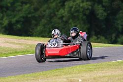 Rowland Mettam & Keith Cook, VMCC, Cadwell Park, September 2013