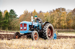 Fordson Super Major at Sherwood Ploughing Match, Budby, Notinghamshire, November 2017. Photo: Neil Houltby