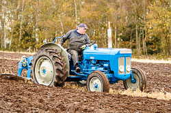 Fordson Super Dextra at Sherwood Ploughing Match, Budby, Notinghamshire, November 2017. Photo: Neil Houltby