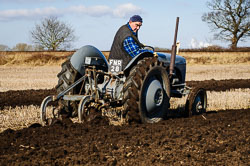 Ferguson TE-20 at Collingham Ploughing Match, Swinderby, Lincolnshire, February 2018. Photo: Neil Houltby