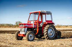 Massey Ferguson MF135 at Collingham Ploughing Match, Swinderby, Lincolnshire, February 2018. Photo: Neil Houltby