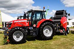 Masset Ferguson 6718 S at Lincolnshire Show, Lincolnshire Showground, Lincolnshire, June 2018. Photo: Neil Houltby