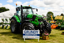 Deutz Fahr 6175 at Lincolnshire Show, Lincolnshire Showground, Lincolnshire, June 2018. Photo: Neil Houltby