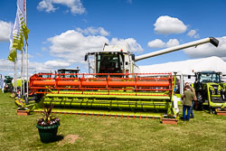 Claas at Lincolnshire Show, Lincolnshire Showground, Lincolnshire, June 2018. Photo: Neil Houltby