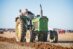 John Deere 1120 at Barton Upon Humber Ploughing Tournament, Worlaby Top, Lincolnshire, October 2018. Photo: Neil Houltby