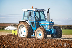 Ford 7610 at Barton Upon Humber Ploughing Tournament, Worlaby Top, Lincolnshire, October 2018. Photo: Neil Houltby
