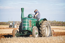 Field Marshall at Barton Upon Humber Ploughing Tournament, Worlaby Top, Lincolnshire, October 2018. Photo: Neil Houltby
