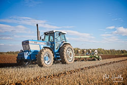 Ford TW35 at Barton Upon Humber Ploughing Tournament, Worlaby Top, Lincolnshire, October 2018. Photo: Neil Houltby