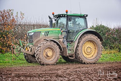 John Deere 6175R at Sherwood Ploughing Match, Budby, Nottinghamshire, November 2018. Photo: Neil Houltby