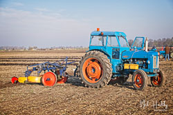 Fordson Power Major at Newborough Plouging Match, Newborough, Cambridgeshire, February 2019. Photo: Neil Houltby