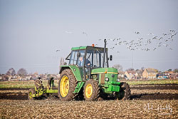 John Deere 3130 at Newborough Plouging Match, Newborough, Cambridgeshire, February 2019. Photo: Neil Houltby