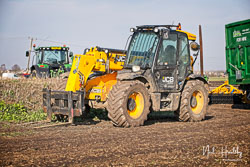 JCB Loadall 535/95 at Newborough Plouging Match, Newborough, Cambridgeshire, February 2019. Photo: Neil Houltby