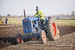 Fordson Major at Newborough Plouging Match, Newborough, Cambridgeshire, February 2019. Photo: Neil Houltby
