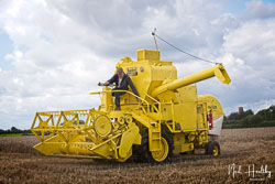 Bamford Claeys M80 Combine at Gathering the Harvest, East Bridgeford, Nottinghamshire, August 2019. Photo: Neil Houltby