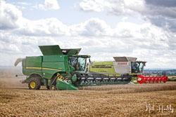 John Deere S790I at Gathering the Harvest, East Bridgeford, Nottinghamshire, August 2019. Photo: Neil Houltby