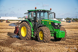 John Deere 6155R at Flintham and District Ploughing Match, Scarrington, Nottinghamshire, September 2019. Photo: Neil Houltby