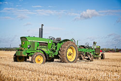 John Deere 3120 at Flintham and District Ploughing Match, Scarrington, Nottinghamshire, September 2019. Photo: Neil Houltby