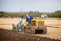 Caterpillar D2 Crawler at Flintham and District Ploughing Match, Scarrington, Nottinghamshire, September 2019. Photo: Neil Houltby