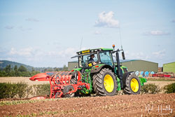 John Deere 6155R at North Notts Ploughing Match, Blyth, Nottinghamshire, September 2019. Photo: Neil Houltby