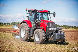 Case CVX 165 at North Notts Ploughing Match, Blyth, Nottinghamshire, September 2019. Photo: Neil Houltby