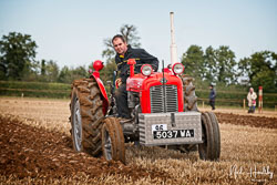 Massey Ferguson MF35 at British National Ploughing Championship, Nocton, Lincolnshire, October 2019. Photo: Neil Houltby
