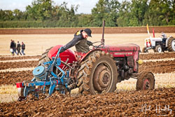 Massey Ferguson MF65 at British National Ploughing Championship, Nocton, Lincolnshire, October 2019. Photo: Neil Houltby