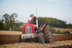 Massey Ferguson MF35X at British National Ploughing Championship, Nocton, Lincolnshire, October 2019. Photo: Neil Houltby