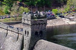 Derwent Dam. Derwent Reservoir, Derbyshire
