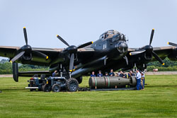 Avro Lancaster 'Just Jane' NX611 at Lanc and Tank, Lincolnshire Aviation Heritage Centre, East Kirkby, Lincolnshire, May 2018. Photo: Neil Houltby