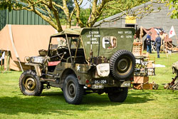 Jeep at Lanc and Tank, Lincolnshire Aviation Heritage Centre, East Kirkby, Lincolnshire, May 2018. Photo: Neil Houltby