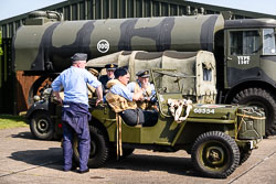 WWII Reenactor at Lanc and Tank, Lincolnshire Aviation Heritage Centre, East Kirkby, Lincolnshire, May 2018. Photo: Neil Houltby