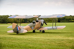 De Haviland Queen Bee at East Kirkby Airshow, Lincolnshire Aviation Heritage Centre, East Kirkby, Lincolnshire, August 2018. Photo: Neil Houltby