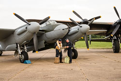 DeHaviland Mosquito NF2 at East Kirkby Airshow, Lincolnshire Aviation Heritage Centre, East Kirkby, Lincolnshire, August 2018. Photo: Neil Houltby