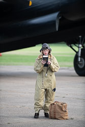 WWII Reenactor at East Kirkby Airshow, Lincolnshire Aviation Heritage Centre, East Kirkby, Lincolnshire, August 2018. Photo: Neil Houltby