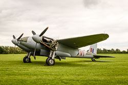 De Haviland Mosquito NFII at Props and Pistons, Lincolnshire Aviation Heritage Centre, East Kirkby, Lincolnshire, August 2018. Photo: Neil Houltby