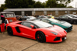 Lamborghini at Props and Pistons, Lincolnshire Aviation Heritage Centre, East Kirkby, Lincolnshire, August 2018. Photo: Neil Houltby