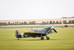 Supermarine Spitfire at Battle of Britain, Duxford Air Show, Imperial War Museum Duxford, Cambridgeshire, September 2018. Photo: Neil Houltby