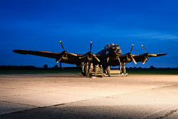 Avro Lancaster 'Just Jane' at Night Shoot, Lincolnshire Aviation Heritage Centre, East Kirkby, Lincolnshire, September 2018. Photo: Neil Houltby