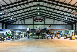 DeHaviland Mosquito NF.II at Night Shoot, Lincolnshire Aviation Heritage Centre, East Kirkby, Lincolnshire, September 2018. Photo: Neil Houltby